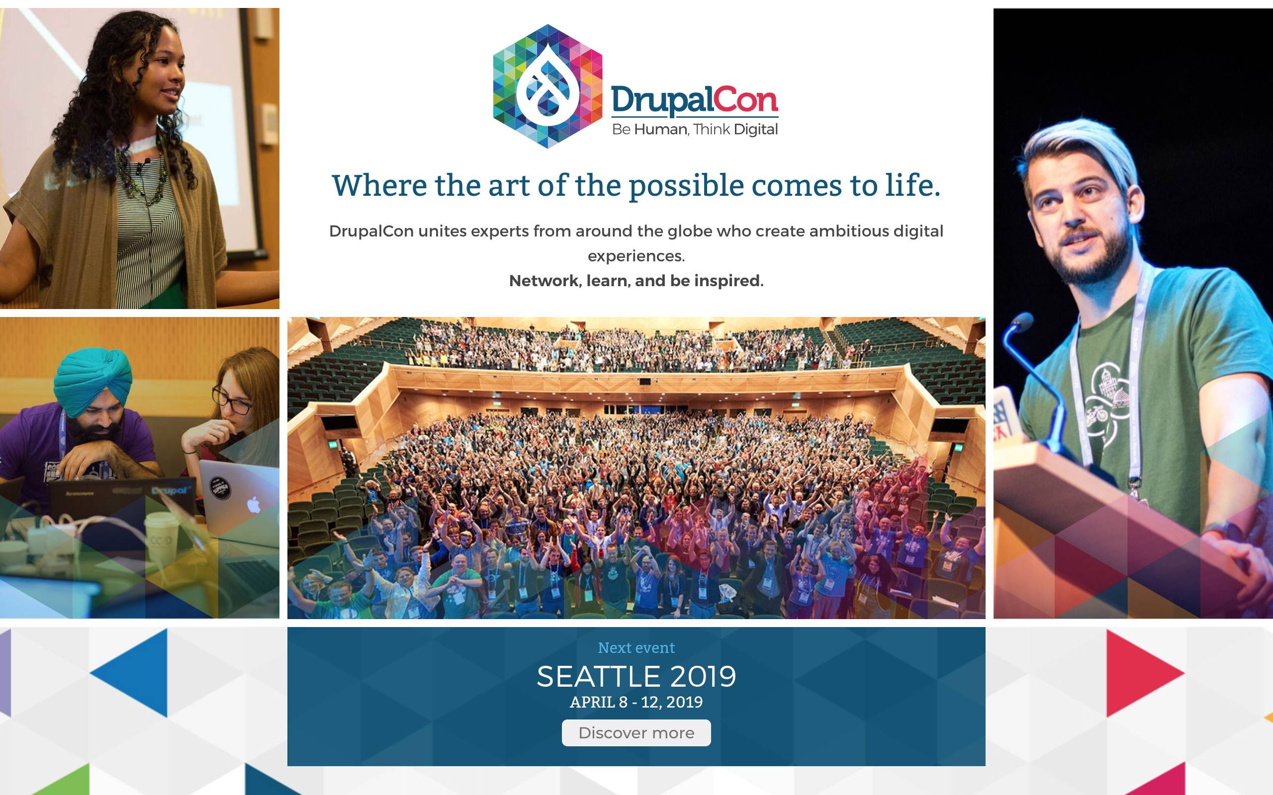DrupalCon homepage